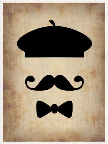 Hat Glasses and Mustache 3 Art Print