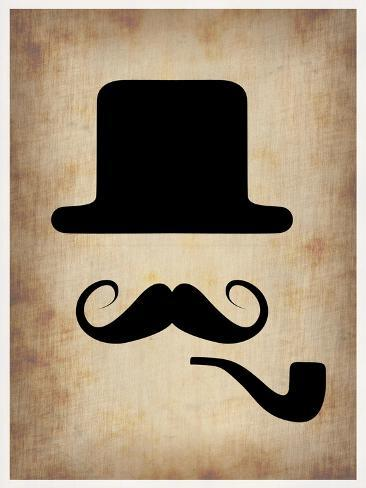 Hat Glasses and Mustache 4 Art Print