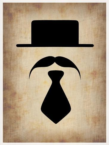 Hat Glasses and Mustache 5 Art Print