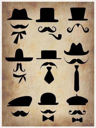 Hats Glasses and Mustaches Art Print