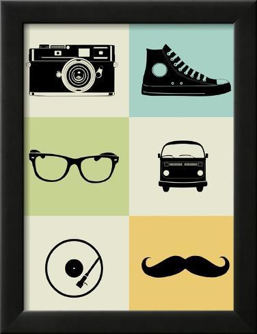 Hipster Mix Poster Impressão artística emoldurada