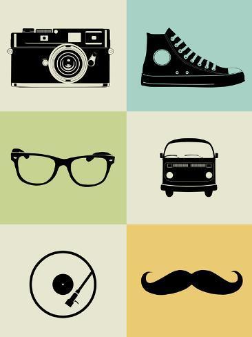 Hipster Mix Poster Art Print