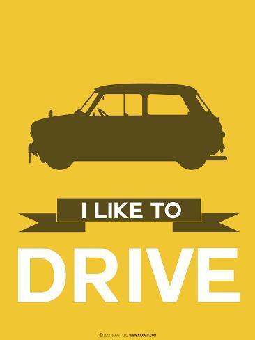 I Like to Drive Mini Cooper 1 Art Print