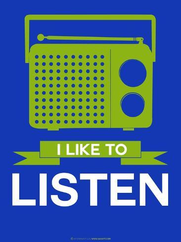 I Like to Listen 2 Art Print