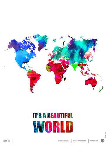 It's a Beautifull World Poster Premium Giclee Print