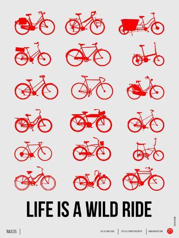 Life is a Wild Ride Poster II Targa di plastica