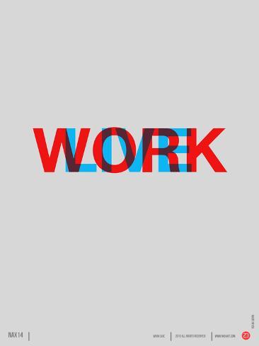 Live Work Poster Premium Giclee Print