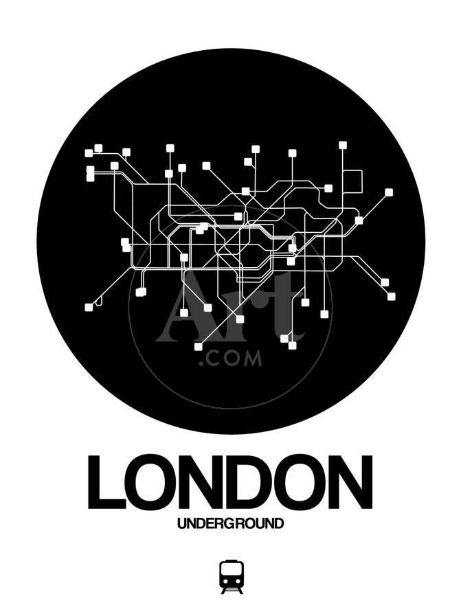Black White Subway Map.London Black Subway Map