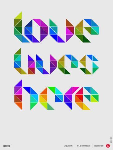 Love Lives Here Poster Premium Giclee Print