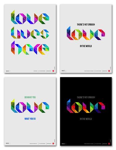 Love Phrase Poster Set Poster Set