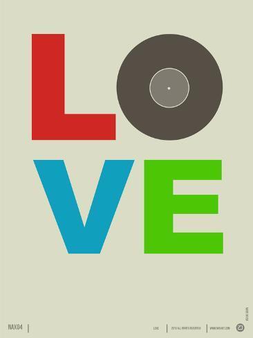 Love Poster Plastic Sign