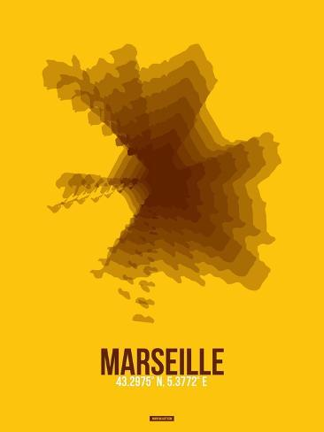 Marseille Radiant Map 3 Art Print