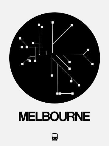 Melbourne black subway map