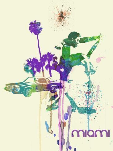 Miami Romance Art Print