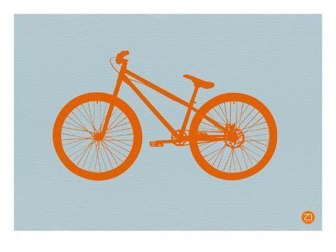 Orange Bicycle Art Print