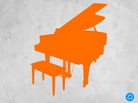 Orange Piano Art Print