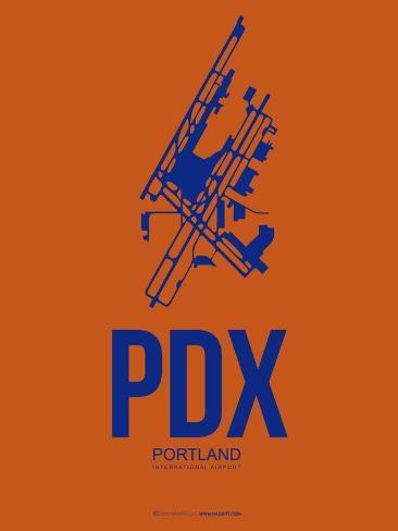 Pdx Portland Poster 1 Art Print