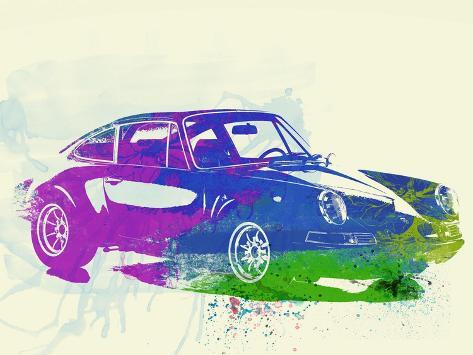Porsche 911 Watercolor Art Print