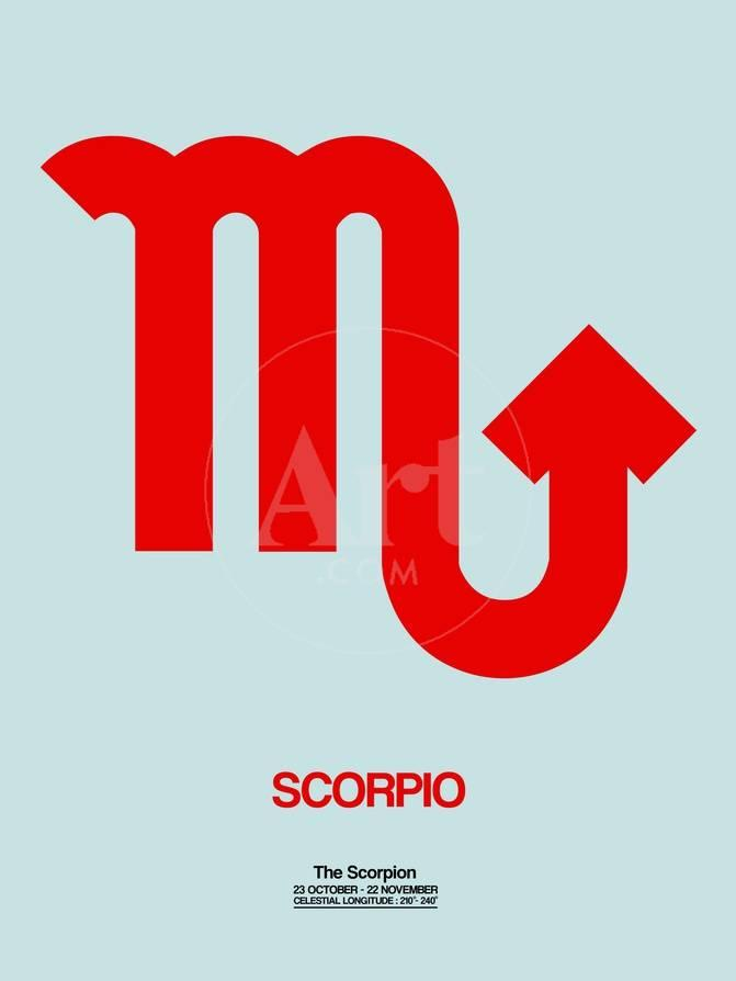 Scorpio Zodiac Sign Red Posters By Naxart At Allposters