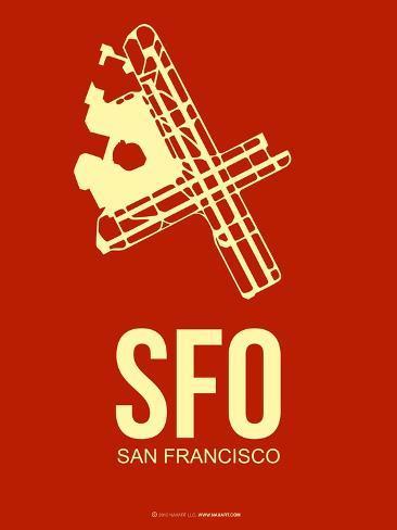 Sfo San Francisco Poster 2 Art Print
