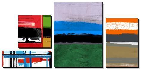 Stripes and Squares Canvas Art Set