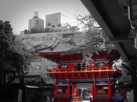Temple In Tokyo Art Print