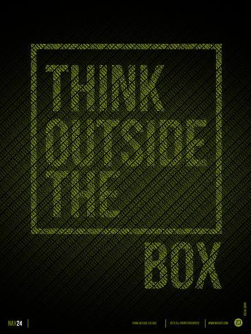 Think Outside of The Box Poster Art Print