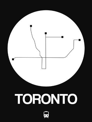 Toronto white subway map