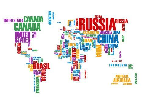 Typography world map 8 lminas por naxart en allposters typography world map 8 lmina gumiabroncs Gallery