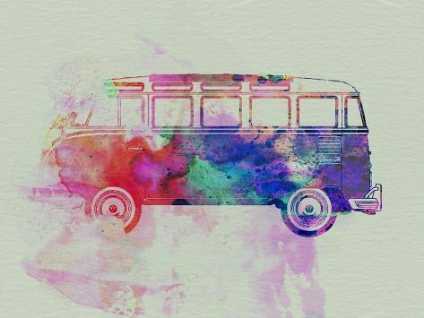 VW Bus Watercolor Art Print