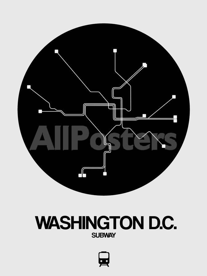 D Subway Map.Washington D C Black Subway Map Art By Naxart At Allposters Com