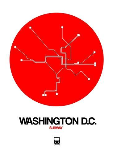 Washington D C Red Subway Map Posters By Naxart By Allposters Ie