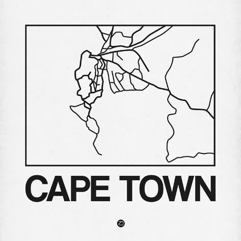 White map of cape town