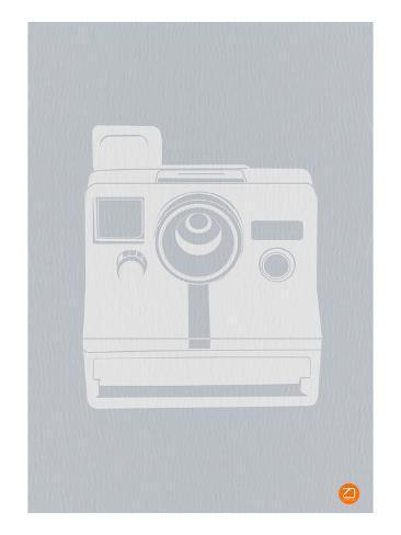 White Polaroid Camera Art Print