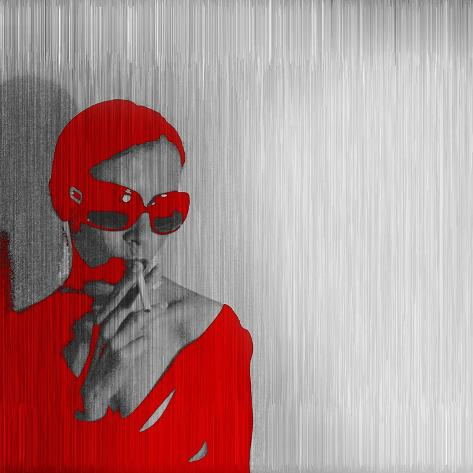 Zoe in Red Art Print