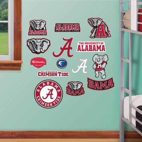 Ncaa alabama jr logosheet wall decal sticker wall decal for Alabama football wall mural
