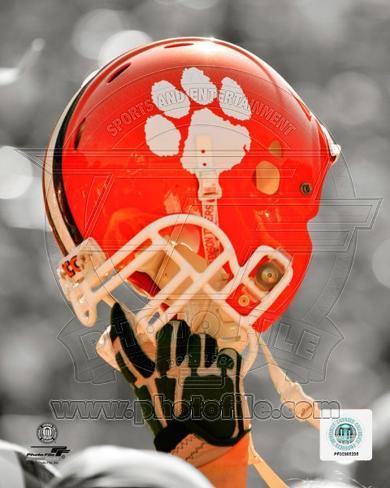 NCAA Clemson University Tigers Helmet Spotlight Photo