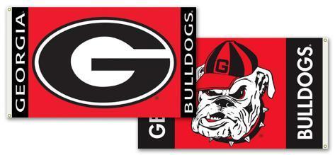 NCAA Georgia Bulldogs 2-Sided Flag with Grommets Flag