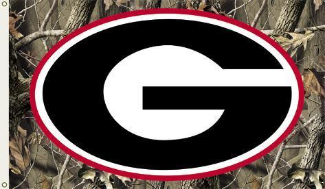 Ncaa Georgia Bulldogs Camo Flag With Grommets Flag At