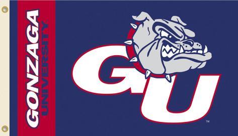 NCAA Gonzaga Bulldogs Flag with Grommets Flag