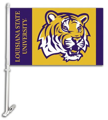NCAA Louisiana State Tigers Car Flag with Wall Bracket Flag