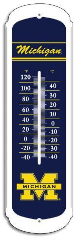 NCAA Michigan Wolverines Outdoor Thermometer Tin Sign