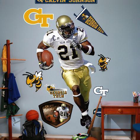 NCAA/NFLPA Georgia Tech Yellow Jackets Calvin Johnson Wall Decal Sticker Wall Decal