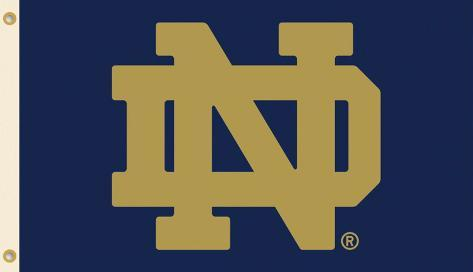 NCAA Notre Dame Flag with Grommets Flag