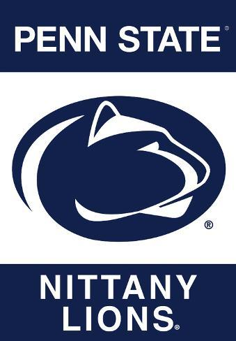 NCAA Penn State Nittany Lions 2-Sided Banner With Pole Sleeve Flag