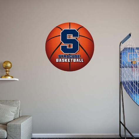 ncaa syracuse orange 2015 realbig basketball logo wall