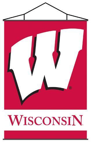 NCAA Wisconsin Badgers Indoor Banner Scroll Wall Scroll