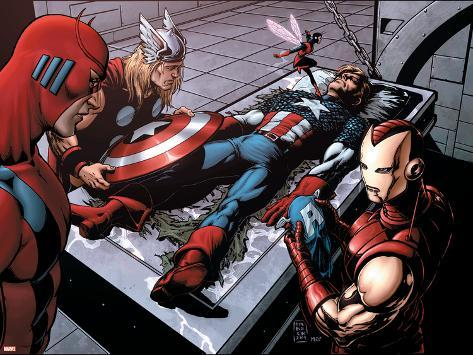 Avengers Finale No.1 Group: Captain America, Giant Man, Iron Man, Thor and Wasp Poster