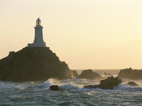 Corbiere Lighthouse, St. Brelard-Corbiere Point, Jersey, Channel Islands, United Kingdom Photographic Print