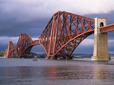 Forth Railway Bridge, Queensferry, Edinburgh, Lothian, Scotland, United Kingdom Photographic Print